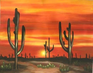 Desert Sunset Happy Hour Event