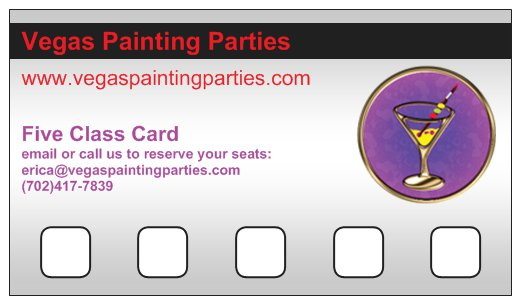 Vegas Painting Parties PunchCard