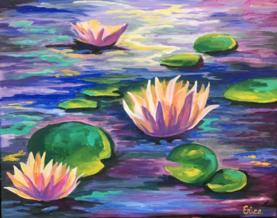 Colorful Lily Pads Happy Hour Event