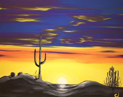 Funky Cactus Sunset Event