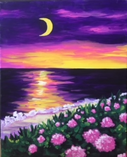 Moonlit Sunset